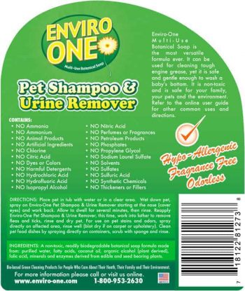 Pet Shampoo & Stain Remover